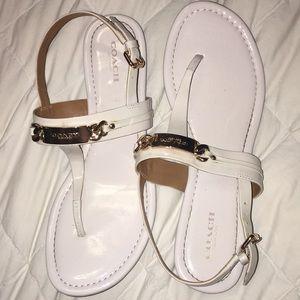 Coach Leather Sandals Size 8